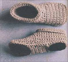 slipper boots -- pattern from Simple Crocheting