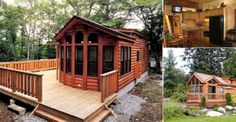 At JUST $26,500 - This Movable Log Home Spares NO Expense! Log house designs for many reasons are be ...
