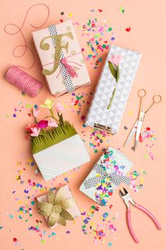 Gift Wrapping ideas for Spring #diy #crafts