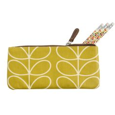 Orla Kiely pencil case and pencils. Amazon