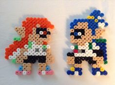 Mario Maker - Inkling Girl and Inkling Boy Costumes beads