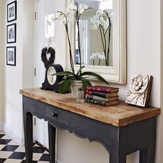 Love this hallway table