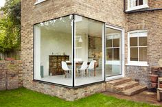 glass internal wall in traditional home - Google Search