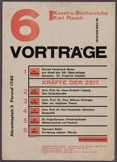 Herbert Bayer, 6 Vortrage, Photolithograph and letter press Herbert Bayer, Laszlo Moholy Nagy, Bauhaus Design, Constructivism, Typography, Lettering, Book Cover Art, Moma, Editorial Design