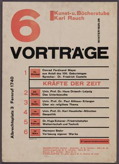 MoMA | The Collection | Herbert Bayer. 6 Vorträge. 1925