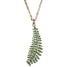 Fairy Fern Necklace (Goldtone/Mystic Green): Kirks Folly Online Web Store