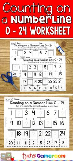 Practice counting to 24 in this no prep cut and paste activity. Great for kindergarten centers. CCSS aligned. K.CC.1