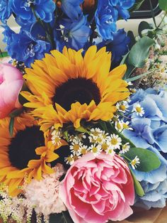 Image result for peonies and sunflowers