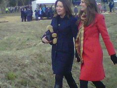 5 April 2013  Kate and her private secretary Rebecca Deacon enjoyed a chat following the visit.