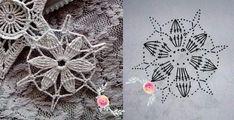 Crochet Snowflake Pattern, Crochet Stars, Crochet Snowflakes, Crochet Mandala, Crochet Ball, Knit Crochet, Doilies, Crochet Earrings, Christmas Decorations