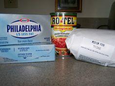 Cheese Dip ingredients