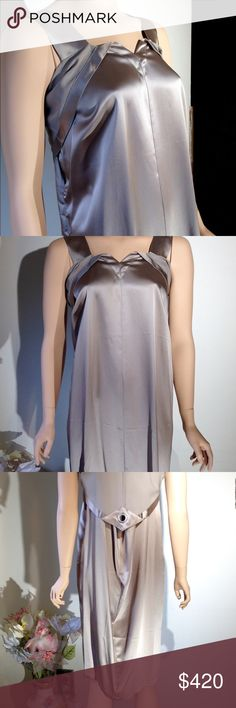X tra OFF!! SALE  MARTIN MARGIELA Dress Runs Big NWT Maison Martin Margiela  dress Sz 38 in a gray satin.  Just a bit taupy.  Beautiful for all year round!!!! This dress runs big except for under the arms. Very full.  SALE from 295 before that 395. Maison Martin Margiela Dresses