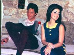 Elvis and Prisciclla, eve of their wedding.