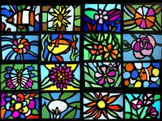 """After observing the Gothic stained glass with the students of grade we made the """"stained glass windows"""" of tissue paper. We started the elaboration of a photograph with the i… Stained Glass Cookies, Faux Stained Glass, Stained Glass Projects, Stained Glass Patterns, Stained Glass Windows, Tissue Paper Crafts, Glass Wall Art, Glass Vase, Window Art"""
