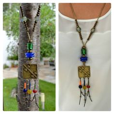 Amuletos - Colgante étnico diabolos - hecho a mano por Doce-Cuentas en DaWanda