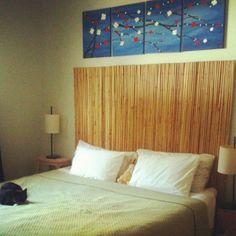 IKEA HULTET Bamboo headboard + waterbed
