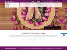 Salon Website of @elaynejames   By @saloncloudsplus