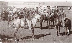 Photo of Nebraska cowboys, possibly in Custer County's Round Valley, taken by Solomon D. Butcher in 1888