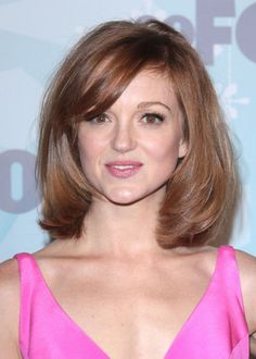 Jayma Mays red hairstyle with bangs