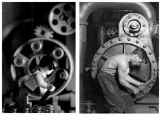 LegoLenta. This is an iconic Lewis Hine photograph from 1920, created for the Works Progress Administration. It appears in the articles Lewis Hine, Masculinity, Survey Graphic, and Mechanic.