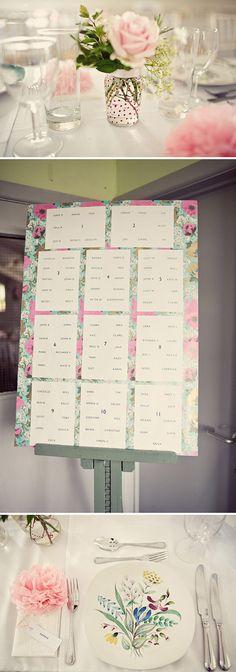 Floral Wedding Table Plan