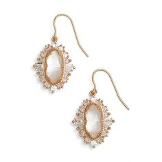 Women's Kendra Scott 'Kapri' Drop Earrings (7.635 RUB) ❤ liked on Polyvore featuring jewelry, earrings, polish jewelry, drop earrings, mother of pearl drop earrings, mother of pearl jewelry and kendra scott
