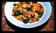 Quinoa with Sweet Potato & Broccoli #vegetarian #vegan #glutenfree #gf #quinoa #recipe