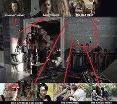 wow. ive always looked for stuff on the wall in this episode but could never read it. Now i know :)