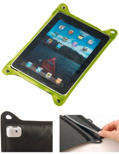 For the iPad! Protection down to 10 meters for 1 hour. Rafting, hiking or rain, you can use GPS, compass or a map app. Price ranges from $22 (on sale) to $40. You can also get one for Android tablet, Kindle or mini iPad. PM
