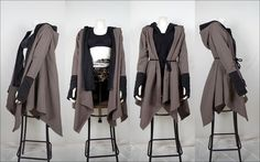 Postapocalyptic layered coat <3 handmade by Aint no snail  #postapocalyptic #coat #alternative #aintnosnail #handmade