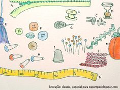 dicionário ilustrado de costura: Inglês – Português