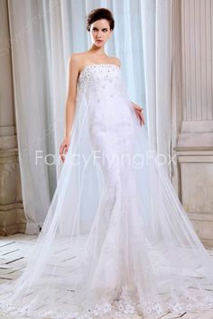 fancyflyingfox.com Offers High Quality Unique Illusion Strapless Trumpet Mermaid Wedding Dresses Corset Back ,Priced At Only US$235.00 (Free Shipping)