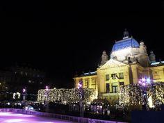 christmas in zagreb, croatia Best Christmas Markets, Zagreb Croatia, Mansions, House Styles, Travel, Beautiful, Food, Viajes, Manor Houses