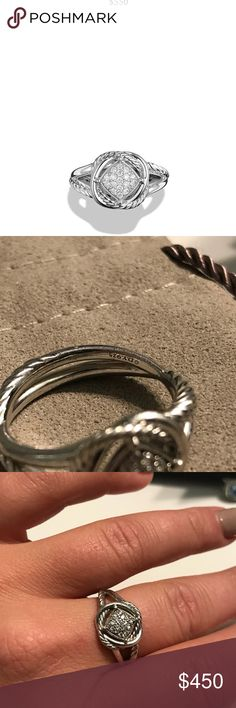 David yurman infinity ring with diamonds Davin yurman infinity ring with diamonds, size 8 David Yurman Jewelry Rings
