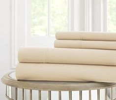 "These T600 100% 4 PC cotton solid sheet sets are affordable way to update your bedroom. Sheets are available in a sophisticated color palette.   Add to your current bedding for a pop of color or combine with a new bedding set for a whole new look. Machine washable.  Dimensions:  Twin: Flat Sheet - 66x96"", Fitted Sheet - 39x75""+15"" Pocket, Pillow - 20x30""  Full: Flat Sheet - 81x96"", Fitted Sheet - 53x75""+15"" Pocket, Pillow - 20x30""  Queen: Flat Sheet - 90x102"", Fitted Sheet - 60x80""+15""…"