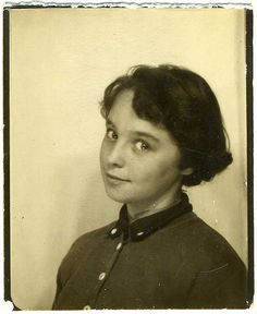 ** Vintage Photo Booth Picture **   Young Mary Louise