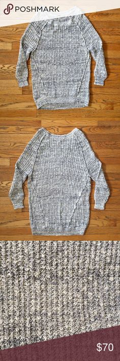 Oversized Free People Grey Sweater This grey Free People oversized sweater is so comfy and cute! Only worn twice. In great condition. Size medium. Free People Sweaters Crew & Scoop Necks