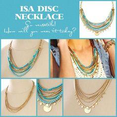Bonne Nouvelle! Le collier Isa qui se porte de plusieurs façons est de retour sur le site http://www.stelladot.fr/sophiemassot …
