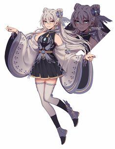 Anime Oc, Oc Manga, Chica Anime Manga, Anime Girl Dress, Anime Girl Cute, Kawaii Anime Girl, Anime Art Girl, Female Character Design, Character Design Inspiration
