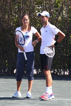 Ana Ivanovic Photos: Novak Djokovic at Tony Bennett's All Star Tennis Event in Key Biscayne, Florida