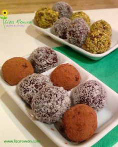 Energy Balls! Easy, fun and full of natural sweetness.  Perfect for an energy boost, or any time treat..