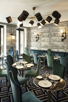 Les plus beaux restaurants deco a Paris : La Gauche Caviar par Vincent Darré La Gauche Caviar 28, rue Saint-Benoit, 75006 Paris www.hotel-lemontana.com