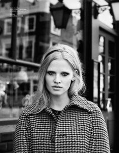 Super Lara Vogue Netherlands September 2014 Photographer: Angelo Pennetta Fashion Editor: Sara Moonves Model: Lara Stone