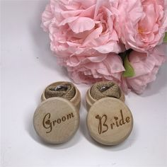 Birde & Groom Wedding Ring Box Engagement Party Personalized Wooden Ring Bearer Storage Box Rustic Wedding Gifts Ring Box Holder