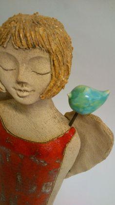 Anděl a  tyrkysový ptáček
