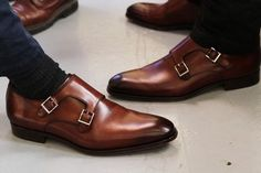 Handmade Men's Leather Fashion shoes, Men's Brown Double Monk Strap Shoes sold by LeathersPlanet. Shop more products from LeathersPlanet on Storenvy, the home of independent small businesses all over the world. Leather Fashion, Fashion Shoes, Mens Fashion, Style Fashion, Indian Fashion, Brown Leather Shoes, Leather Men, Calf Leather, Soft Leather