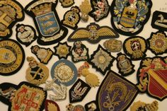Gold work and Silk Shading Badges