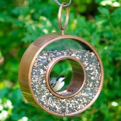Comedero colgante de aves en forma circular   La Guarida Geek