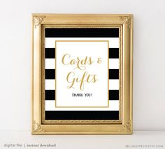 PRINTABLE Cards and Gifts Wedding Sign 8x10 and 5x7 by HelloLoveCo