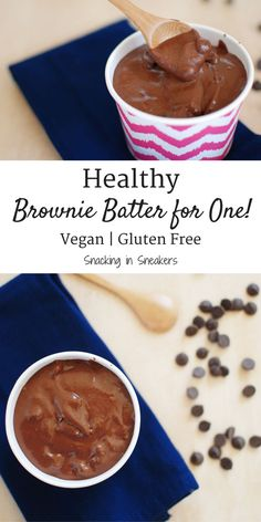 Let's be honest – eating the batter is the best part of baking brownies, so why not enjoy this healthy brownie batter for one! This rich, decadent recipe will satisfy your chocolate cravings. And bonus: it's gluten free, dairy free, and vegan. (Sponsored - for entry into Ryze recipe contest)